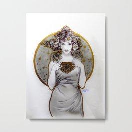 Lady of Galaxies Metal Print
