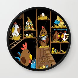 Chicken Coop 2020 Wall Clock