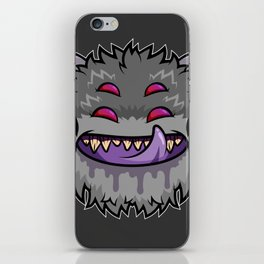 Diabolical Fuzzball (charcoal) iPhone Skin