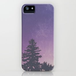 Purple Pines iPhone Case