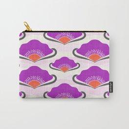 Purple Deco Fans Carry-All Pouch