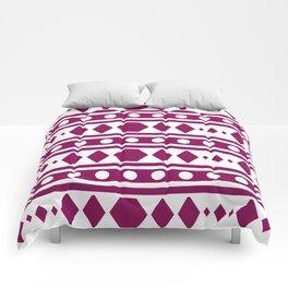 Marsala Tribal Pattern Comforters