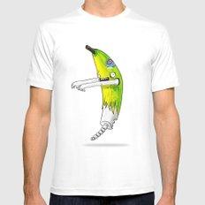 Banana Zombie MEDIUM White Mens Fitted Tee