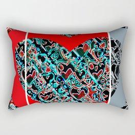 heart a plenty times 3 Rectangular Pillow