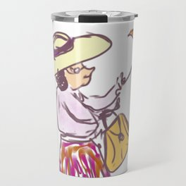 Grandma in the Rain Travel Mug