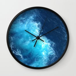 Ocean Blue Waves Wall Clock