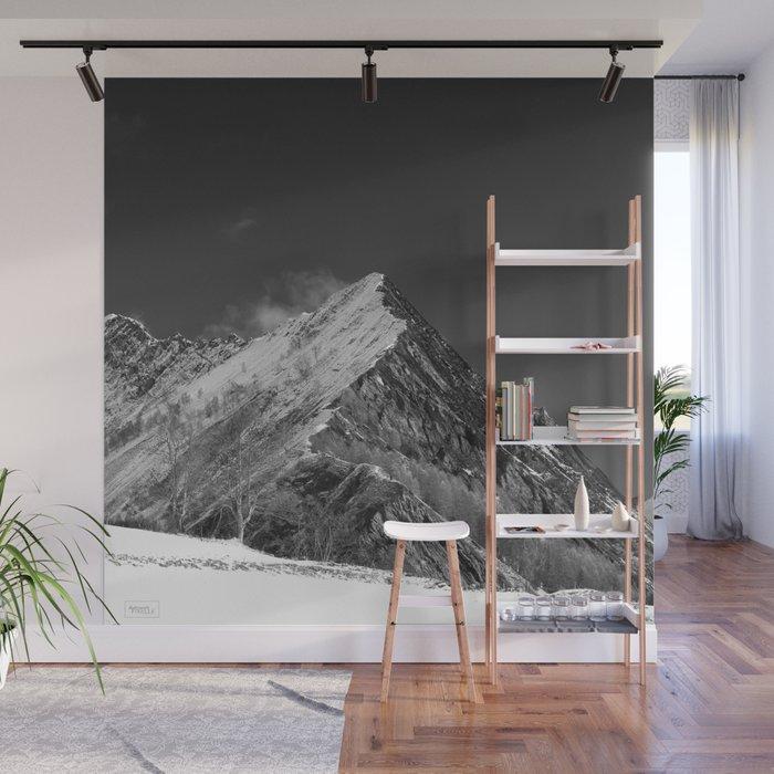 Décoration murale montagne enneigée