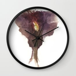 Devon's Vulva Print No.2 Wall Clock