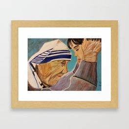 Mother Teresa's Compassion Framed Art Print