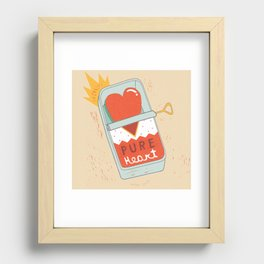 Canned Heart Recessed Framed Print