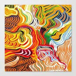 colored flow Canvas Print