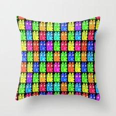 Pixel Gummy Bears Throw Pillow