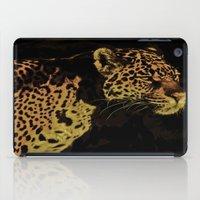 jaguar iPad Cases featuring Jaguar by Die Farbenfluesterin