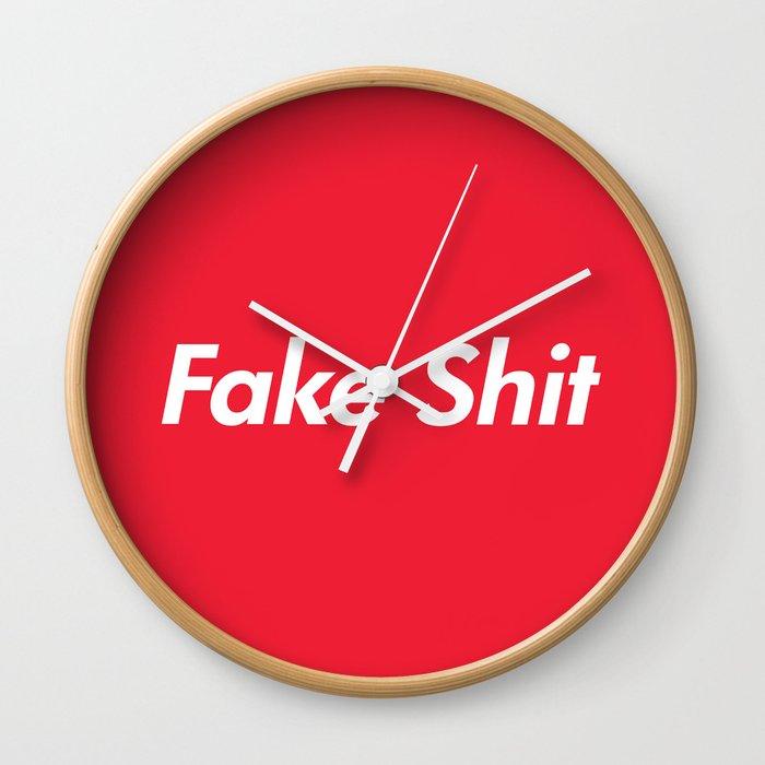 Fake Supreme Rip Off Wall Clock