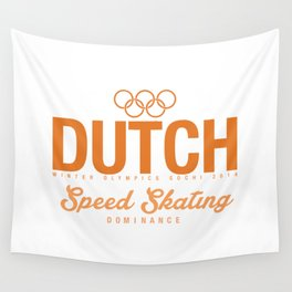 Dutch - Speed Skating Wall Tapestry