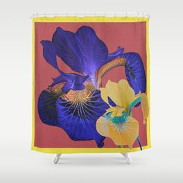 Iris Floral Hug Love Shower Curtain