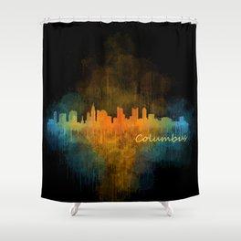 Columbus Ohio, City Skyline, watercolor  Cityscape Hq v4 Shower Curtain
