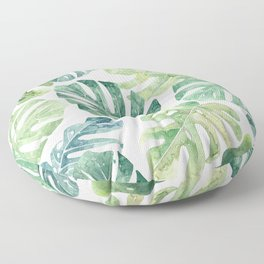 Tropical leaves Monstera leaves Jungle leaves Palm leaves Floor Pillow