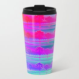 Tropical Beach Pattern (purple and turquoise) Travel Mug