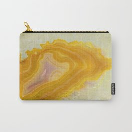 Spilled molten gold agate Carry-All Pouch