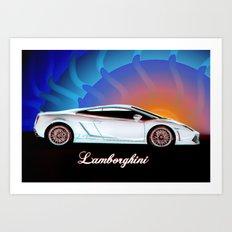 Lamborghin Gallardo Art Print