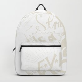 Every struggle is a victory Backpack