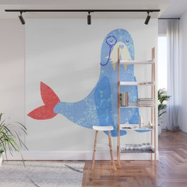 Seal with attitude Wall Mural