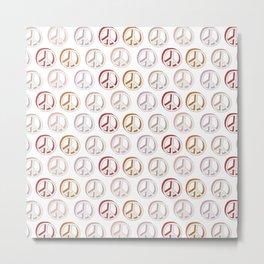 Pattern of Peace Metal Print