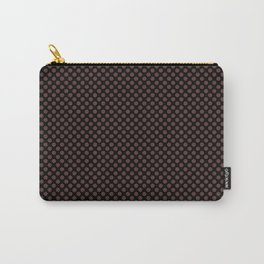 Black and Rum Raisin Polka Dots Carry-All Pouch