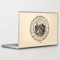 astronomy Laptop & iPad Skins featuring Astronomy Pug by beart24