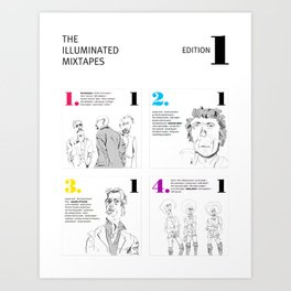 The Illuminated Mixtapes, Edition 1 Art Print