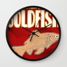 The Malevolent Goldfish - Cover  Wall Clock