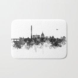 Washington DC Skyline Black and White Bath Mat