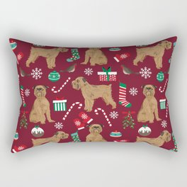 Brussels Griffon christmas holiday pet pattern stockings presents dog breed gifts Rectangular Pillow
