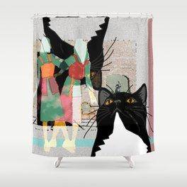 Kats Visit Museum Shower Curtain