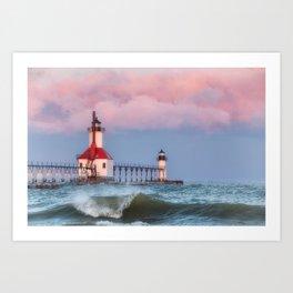 St. Joseph Michigan Lighthouse 01 Art Print