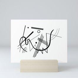 Kandinsky - Black and White Abstract Art Mini Art Print