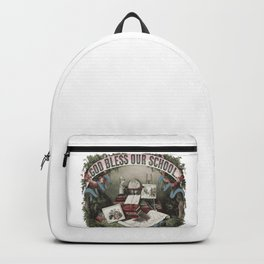 GOD BLESS OUR SCHOOL Pop Art Backpack