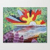 hawaii Canvas Prints featuring Hawaii by Laura Hol Art
