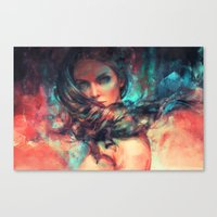alicexz Canvas Prints featuring Islands by Alice X. Zhang