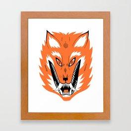 Cursed Fox Framed Art Print