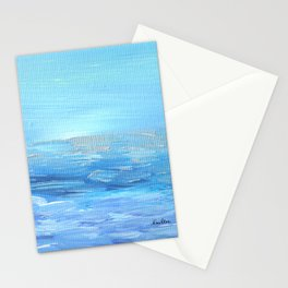 Lights Ahead - Ocean of Silver & Blue Stationery Cards