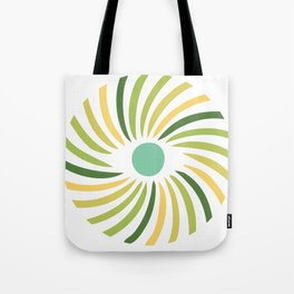 Retro radial eye design Tote Bag
