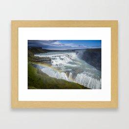 Rainbow at Gulfoss - Iceland Framed Art Print