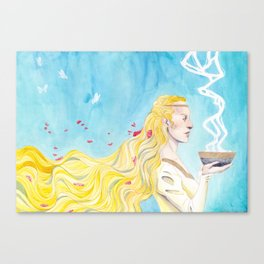 Lady Spring Canvas Print
