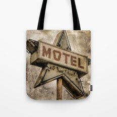 Vntage Grunge Star Motel Sign Tote Bag