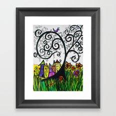 Monday Whimsy Doodle _original Framed Art Print