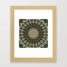 Gorgeous Earth Jewel Mandala Framed Art Print