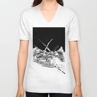 cars V-neck T-shirts featuring Cars by Andreas Derebucha