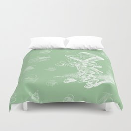Mad Hatter and Teapots Duvet Cover